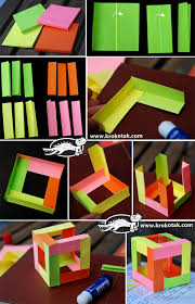 3d cube made of 12 different coloured sheets education