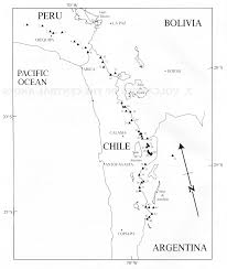 Oregon Volcano Map by Tour Of The Central Andes Volcanoes