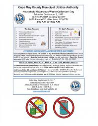 cape may county mua announces household hazardous waste collection