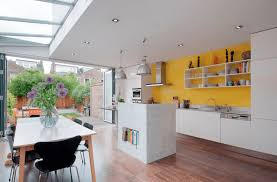 kitchen color ideas freshome yellow accent wall idolza