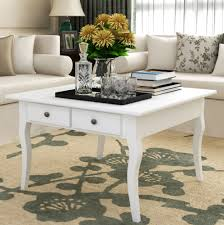 white shabby chic coffee table vintage retro living room furniture