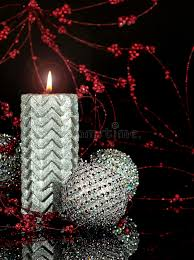 silver christmas candle royalty free stock image image 35429526