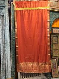Orange Panel Curtains 2 Organza Curtain Olive Green Embroidered Sari Curtains Sheer