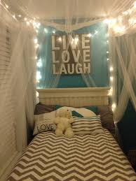 Diy Canopy Bed With Lights Bed Canopy Netting With Fairy Lights We Did This With My Teen