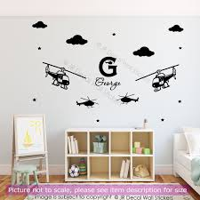 army military helicopter vinyl decals with personalised name helicopter personalised name wall vinyl decals
