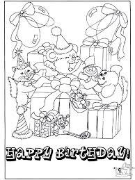 free coloring birthday cards coloring home