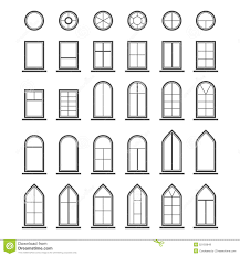 Pictures Of Windows by Set Of Icons Different Types Windows Stock Vector Image 55137784