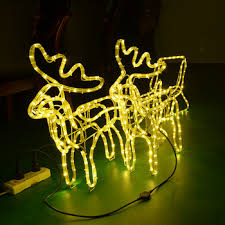 outdoor light iron frame and led rope make artificial