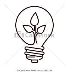 Flat Light Bulb Vector Illustration Of Silhouette Light Bulb Flat Icon With Leaf