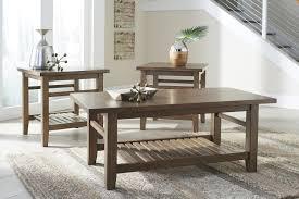 light colored coffee table sets ashley furniture t125 13 zantori 3 pc coffee table set light brown