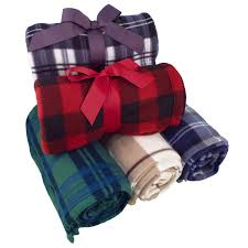 fleece throw blankets plaid