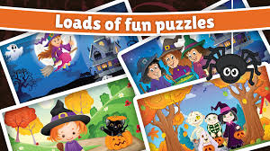 kids halloween cartoon spooky halloween puzzle for kids u0026 toddlers android apps on