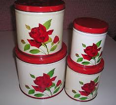 vintage metal kitchen canisters set of 4 vintage metal kitchen canisters from