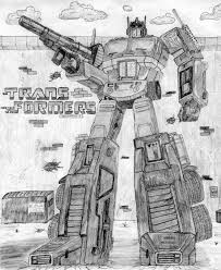 2d artwork g1 optimus prime pencil drawing tfw2005 the 2005