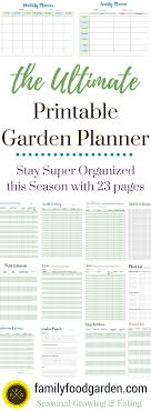 printable vegetable planner a garden planner to help you grow more food garden planner
