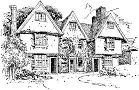drawing a house 1 clipart etc manor clipart group 49