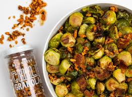 brussel sprouts thanksgiving recipe marianne u0027s brussels sprouts with maple bacon and chili granola