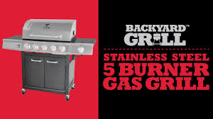 Backyard Grill 3 Burner Backyard Grill 5 Burner Gas Grill By15 101 001 02 Youtube