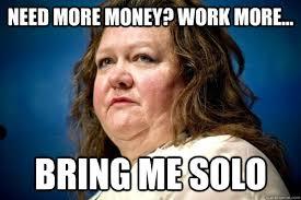 Gina Meme - befuddled billionaire gina rinehart s unflattering meme