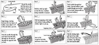 recoudre canapé cuir couture à la de sellier coudre le cuir avec 1 ou 2 aiguilles