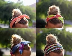 tie dye headbands diy hair accessories to wear at the this summer