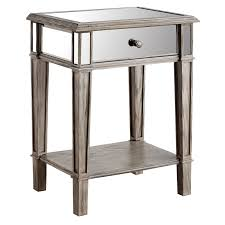 Nightstand Hayworth Mirrored Weathered Oak Nightstand Pier 1 Imports