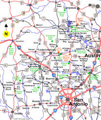 Map Of San Antonio Texas Map Of Hill Country Texas My Blog