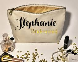 personalized wedding makeup bag bridesmaid gifts cosmetic