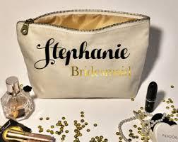 Bridal Party Makeup Bags Personalized Wedding Makeup Bag Bridesmaid Gifts Cosmetic