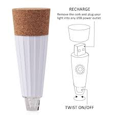 cork shaped rechargeable bottle light ledsmith cork shaped wine bottle light rechargeable usb night light