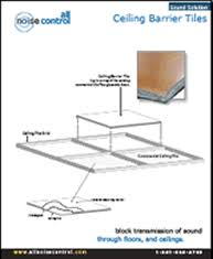 Noise Cancelling Ceiling Tiles by Acoustical Ceiling Tile Barrier For Ceiling Noise Control Problems