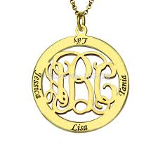 kids name necklace personalized kids name pendant gold color monogram family name