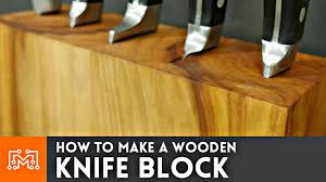 How To Make A Studio Desk by How To Make A Knife Block That Can Hold Your Cookbook
