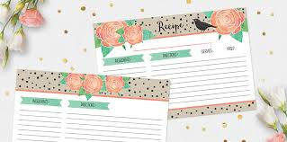 Shabby Chic Website Templates by New Printable Recipe Card U0026 Divider Template Kit U2013 In Store Now