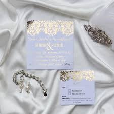 Engagement Invitation Cards Gold Foil Wedding Invitation Set With Rsvp Card Damask Wedding
