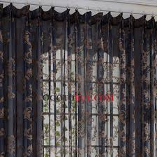 Brown Floral Curtains Classic Black Sheer Curtains Jacquard Brown Floral Pattern Buy