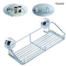 aspiration cuisine stainless steel kitchen bathroom shower shelf storage suction