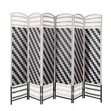 6 panel room divider rhf 6 ft tall diamond weave fiber room divider chevron 6