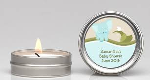 candle baby shower favors baby blue baby shower candle favors