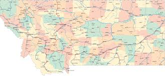 Wyoming Road Map Montana Road Map Mt Road Map Montana Highway Map