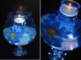 Wedding Candle Centerpieces Blue Wedding Candle Centerpieces By One Wed Ipunya