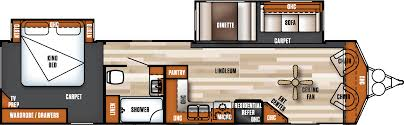 Salem Rv Floor Plans by 2018 Forest River Salem Villa Classic 353flfb Model