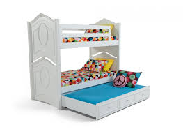 Madelyn White Bunk Bed With Trundle Bobs Discount Furniture - White bunk bed with drawers