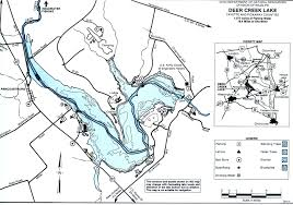 Logan Ohio Map by Deer Creek Lake Fishing Map Central Ohio