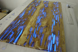 Epoxy Table Top Ideas by Guy Shows How To Make Glow In The Dark Table With Photoluminescent