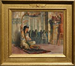 Ancient Egypt Interior Design Portrait Of The Painter U0027s Wife Louise Charlotte Ritter As An