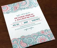 lovely modern indian wedding invitations or letterpress modern and