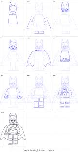 draw batgirl lego batman movie printable step