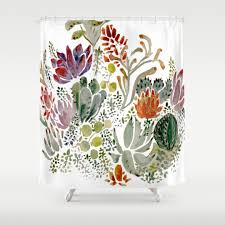 Scandinavian Shower Curtain by Nature Shower Curtains Society6