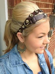 hairstyles with haedband accessories video 38 best headbands images on pinterest leather headbands diy